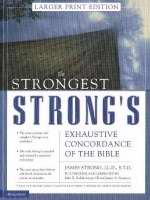 Strongest Strongs Exhaustive Concordance  Large Print